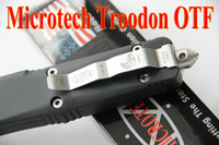 Wholesale Hot Microtech A162 Troodon Double action Blade knife c HRC Blade Outdoor camping pocket survival knives fine blade