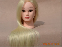 Wholesale New Arrival Professional Hairdressing Mannequin Head with Synthetic Fiber Hair Good Packing