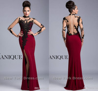 New 2014 Dark red chiffon mother of the bride dresses Tantal...