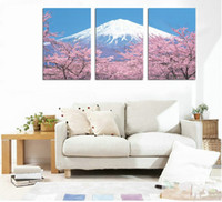 Printed Modern No 3 pieces Canvas fuji modern picture frameless oil mural paintings decorative printed picture on canvas wall art