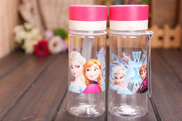 Wholesale Hot Sale Children s Frozen Anna and Elsa cups kids cartoon water bottle Straw Bottle BPA FREE sports bottle