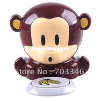 UV Lamp 9W US Wholesale-407-Free Shipping Novel Battery Powered Electronic Cute Monkey Style Nail Polish Dryer,Yofantoy beauty tool