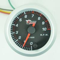 Wholesale 2 quot mm Car Rev Counter Tacho Tachometer Pointer Gauge Meter RPM color
