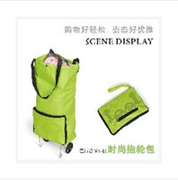 shopping trolley bag - 2014 Folding Wheeled Shopping Luggage Trolley Bag LJJC37