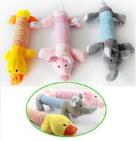 оптовых утка собаки-Brand New игрушки собаки Pet Puppy Звук Плюшевые Chew Squeaker Squeaky свинья слон Duck игрушки [FS01007 * 6]