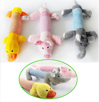 Wholesale New Dog Toy Pet Puppy Plush Sound Chew Squeaker Squeaky Pig Elephant Duck Toys FS01007