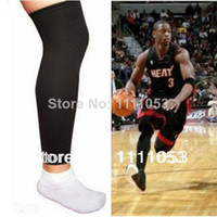 Elbow & Knee Pads Cotton, polyamide Yes Wholesale-407-Free shipping 2 pcs Basketball Sport Compression Calf Stretch Brace Thigh Protect Leg Sleeve
