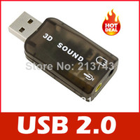 Wholesale USB Mic Speaker Audio Sound Card Adapter