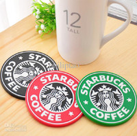 Wholesale piece Starbucks rubber cup mat tea coffee cup mats heat pad