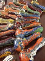 verre pipe Fabrication artisanale et magnifiquement tuyau de cuillère soufflé main, 4