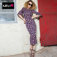 Wholesale Krazy summer sexy new style Europe and America after the split lotus sleeve dress Slim package hip skirt