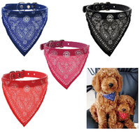 bandana collars - New Style Adjustable Pet Dog Cat Bandana Scarf Collar Neckerchief Brand New Mix Colors FS01006