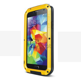 Wholesale LOVE MEI Weather Dirt Shockproof Protective Case for Samsung Galaxy s5 i9600 Gorilla Glass amp Metal Warrior Aluminum