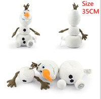 Large 35CM Cartoon Movie Toy Lovely Frozen Olaf the Snowman ...