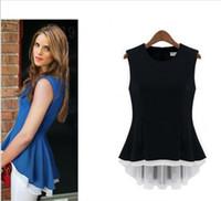 V-Neck Sleeveless Short Brand Blusas Camisas Femininas 2014 Chiffon Blouse Fashion Shirt Women Dudalina Celebrity Roupas Femininas S M L XL HTHNCS-005