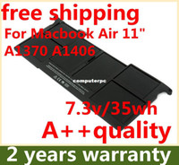 """Yes Stock For Apple Wholesale-407-[Special Price] NEW Original Laptop Battery For Apple MacBook Air 11"""" A1465, A1370 (2011 Production), Replace: A1406 battery"""