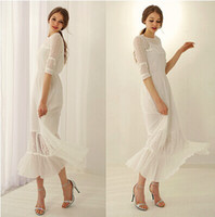 2014 Fashion Dresses Runway style One piece white bodycon Lo...