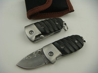 China best fish friend - New Gift knife Small Damascus steel fold knife EDC pocket knife Best gift for friend with good quality