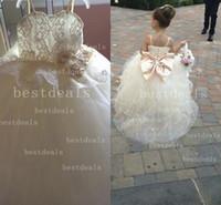 2014 Cute Ball gown Flower Girl's Dresses Spaghetti Strap La...