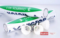 12 Pack victor shuttlecock - Hot Selling Badminton Victor CHAMPION NO Badminton Shuttlecock Genuine Guaranteed Shuttlecock