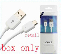 Wholesale For mobile cable samsung iphone htc usb box luxury blister plastic box Retail package Packaging box with hang hook display