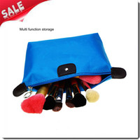 Wholesale lovely water proof portable nylon cosmetic bags make up box hand bags comestic organizer