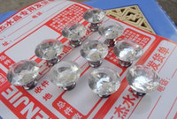 Glass   30mm Diamond Shape Crystal Glass Cabinet Knob Cupboard Drawer Pull Handle