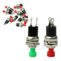 27978 Plastic, Metal Red / Green Wholesale 20pcs lot Momentary Mini On Off Push Button Micro On-Off Switch 2-Pin Selling