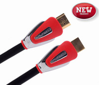 Wholesale 45ft m HDMI Cable Support Gbps Ethernet ARC D K AWG Metal Case Red Ideal for Settop Box DVD Blu ray Player Game Console LCD LED TV