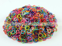 Charm Bracelets Unisex Fashion hi quallity 1bag Glow In The Dark Rubber Bands Refills Packs Colorful Loom Bands With 1200 mix Bands+50 S-Clips+1pc hook