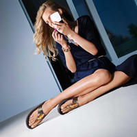 Wholesale 2014New Fashion CHUNKY Beach Slippers Wedges Women soled Sandals Ladies Flip Flops Size