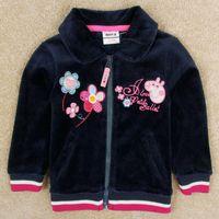 Jackets Girl Spring / Autumn baby girl winter jacket kids winter coats nova new arrivals peppa pig clothes navy velvet jacket children outwear zipper hoodies F5160