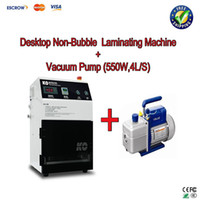 new  AC220V 1500W power supply:110V/220V/380V 0.4-0 .6 Mpa Free ship! Desktop High Precision automatic Non-Bubble OCA Laminating Machine laminator (No Need Remove Bubble )+Vaccum pump