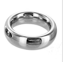 2018 male Fine lock loop penis Ring Cock Ring Male Zinc chrome alloy Delay Gonobolia Loop Cock Ball Bdsm Sex Toys SM606 Size 45mm 50mm