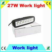 Wholesale Slim w X3W LED Work Light Spot Beam Off Road Light Lamp IP67 Fog driving Bar WD truck Car Cree LED Off Road Lighting