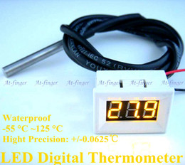 Mini LED Waterproof Thermometer Monitor Digital Temperature Meter High Precision DS18B20 Sensor 1m