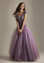 Wholesale 2015 Taffeta A Line Quinceanera Dresses Bodice Net Skirt With Beaded Cap Sleeveless Lace Up Full Length Evening Dresses