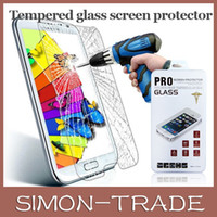 Wholesale Samsung Front Premium Tempered Glass Touch Screen Protector Protective Film Guard For Samsung Galaxy S3 S4 S5 Note Iphone S S C
