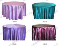 Round round table - Dia cm Dia cm Hotel Restaurant Tablecloth Meeting Sarong Round Table Cloth Wedding Europeum Hotel Satin High grade