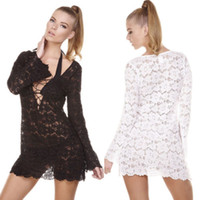 Cover-Ups Polyester One Size Details about Women Bathed Suit Sexy Lace Crochet Bikini Swimwear Cover Up Beach Dress Costume
