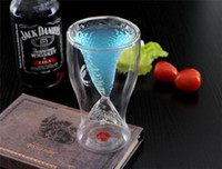Wholesale Newest style Mermaid glass cup Glass beer Vodka Wine Ice cream Glass Novelty glass from Gemma