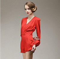 2014 Fashion Runway style One piece bodycon short Jumpsuits ...