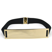 Wholesale Fashion metal sequins elastic waistband Ms Korean wild fashion waist belt wide girdle decorated female crony