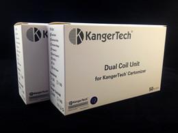 Wholesale Genuine Kanger Upgrade Dual Coil Replacement Coils Head Sub ohm Coil for Aerotank Aero Tank Turbo Mega Mini Protank T3D EVOD EVOD Glass