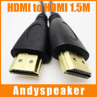 Wholesale Freeshipping M HDMI Cable Version Gold Digital Audio Video Cable P D LCD HDTV Black