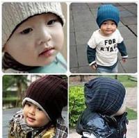 Wholesale MJ twist twist double side cold cap children BABY autumn winter sets style BABY hat hat parent child cap knitting wool hat