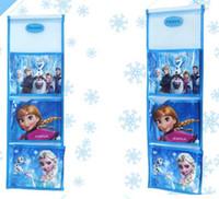 Wholesale 2014 New Arrival Hot Sell Children Girls Boys Frozen Elsa Anna Girls Lovely Cartoon OrganiserThree Layer Receive Bag Kids E0278
