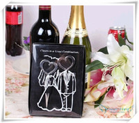 Wholesale Newest arrival Bride and Bridegroom Bottle Stopper and Opener Two Hearts Wine Favor Set Wedding Favor