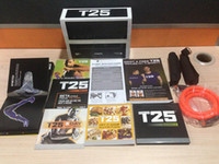 Cheap Human videos T25 Focus suit men and women T Home Body Exercise Video 10 DVDs Body Building Muscle Training With Resistance Bands