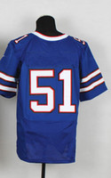 Wholesale Buffalo Takeo Spikes Blue Home American Football Elite Jerseys Man Rugby Stitched Jersey Authentic On Field Jerseys Mix Order
